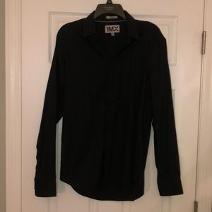 Express Men's Black Button Down Shirt